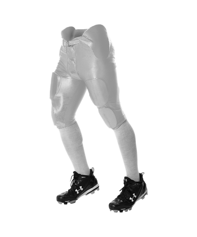 Alleson 681Y Youth Integrated Football Pant - White - Football - Hit A Double