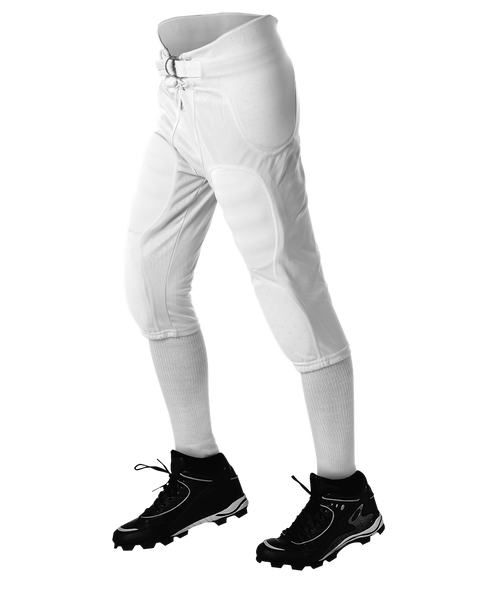 Alleson 687PY Youth Solo Series Integrated Football Pant - White - Football - Hit A Double