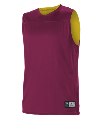 Alleson A105BY Youth NBA Blank Reversible Game Jersey - Wine Gold