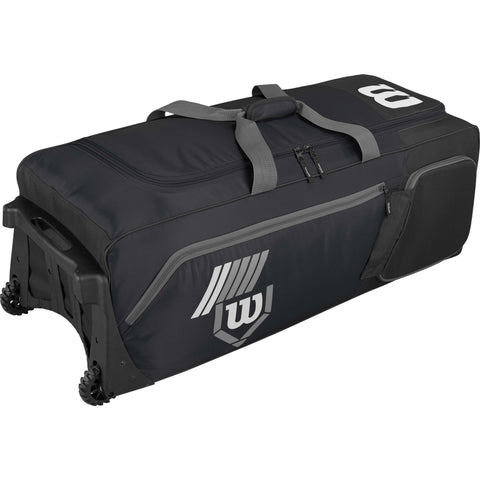 Wilson Pudge 2.0 Wheeled Catcher's Bag - Black