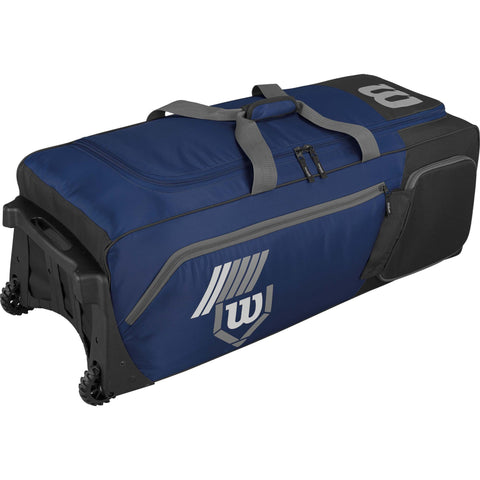 Wilson Pudge 2.0 Wheeled Catcher's Bag - Navy