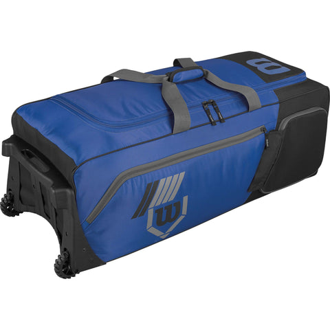 Wilson Pudge 2.0 Wheeled Catcher's Bag - Royal