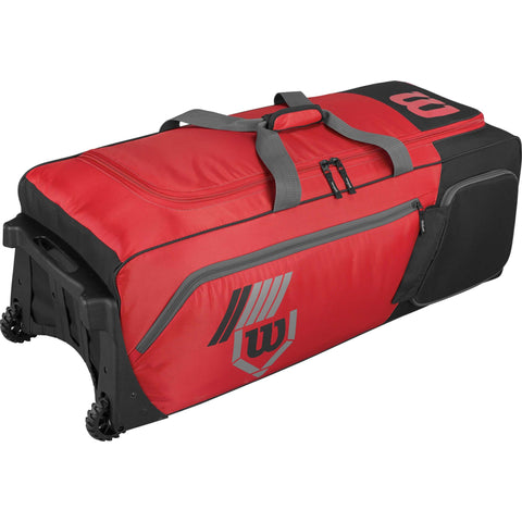 Wilson Pudge 2.0 Wheeled Catcher's Bag - Scarlet