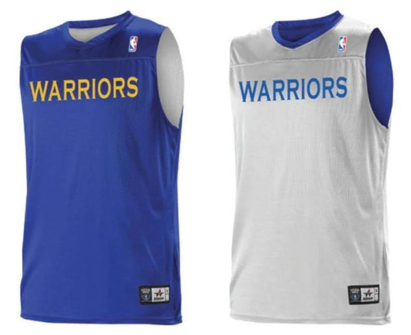 Alleson A105LA Adult NBA Logo Reversible Game Jersey - Golden State Warriors