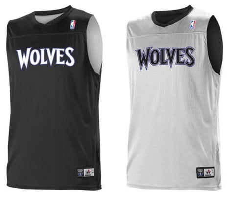 Alleson A105LA Adult NBA Logo Reversible Game Jersey - Minnesota T-Wolves