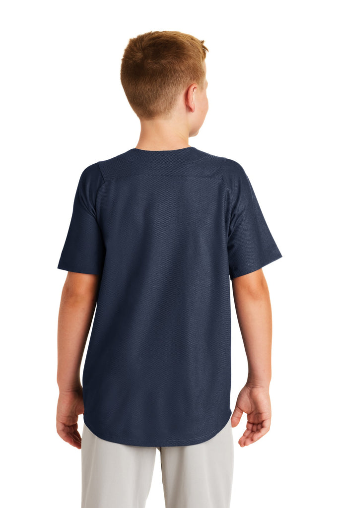 New Era YNEA220 Youth Diamond Era Full-Button Jersey - True Navy - HIT A Double