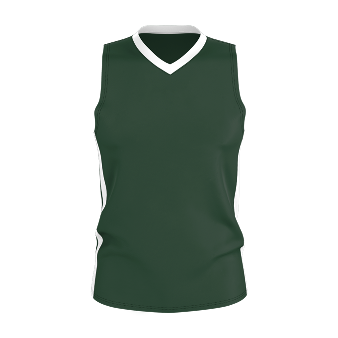 Alleson 538J Mens Single Ply Basketball Jersey - Forest White - HIT A Double