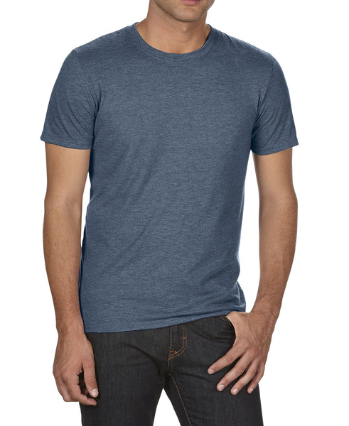 Anvil A6750 Tri-Blend Tee - Heather Navy