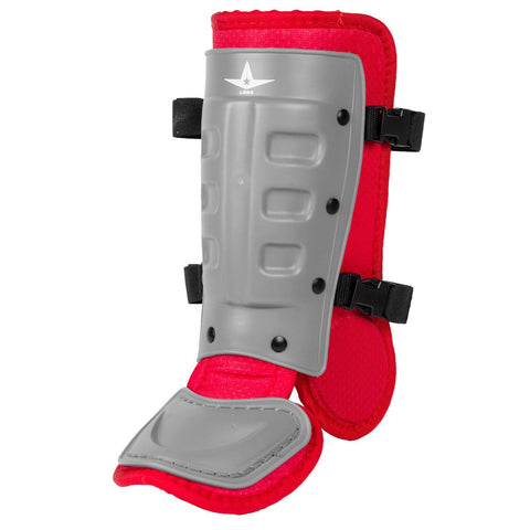 All-Star Universal Batter's Ankle Guard LGB3 - Graphite Scarlet - HIT A Double