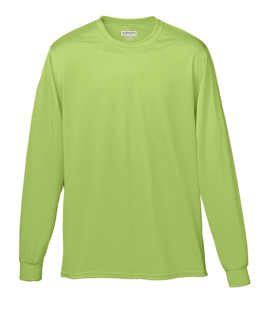 Augusta 788 Wicking Long Sleeve T-Shirt - Safety Green