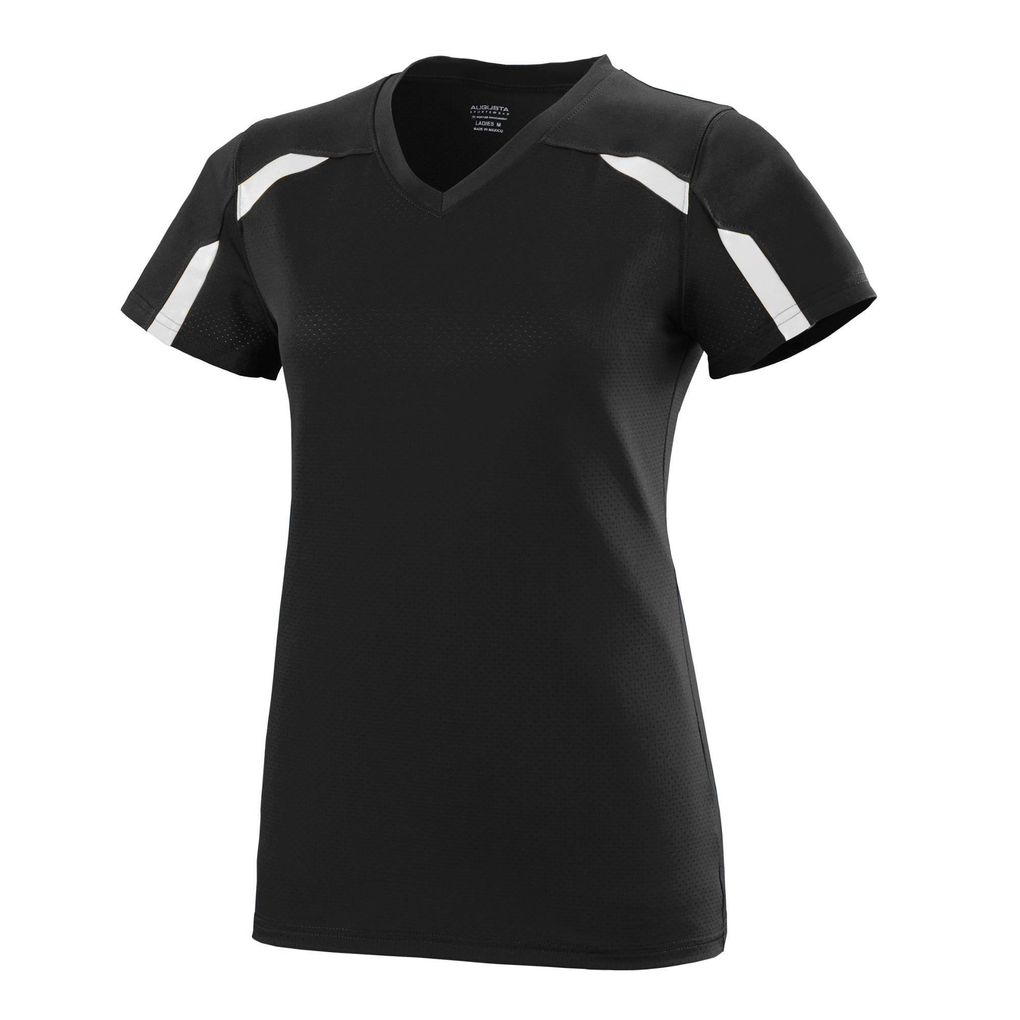 Augusta 1003 Girls Avail Jersey - Black White - HIT A Double