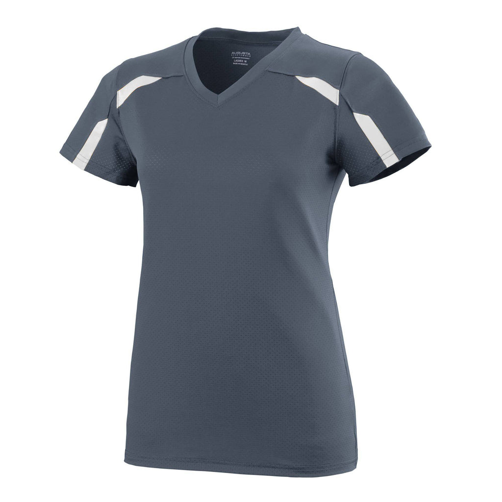 Augusta 1003 Girls Avail Jersey - Graphite White - HIT A Double