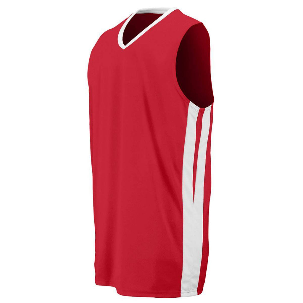 Augusta 1040 Triple-Double Game Jersey - Red White