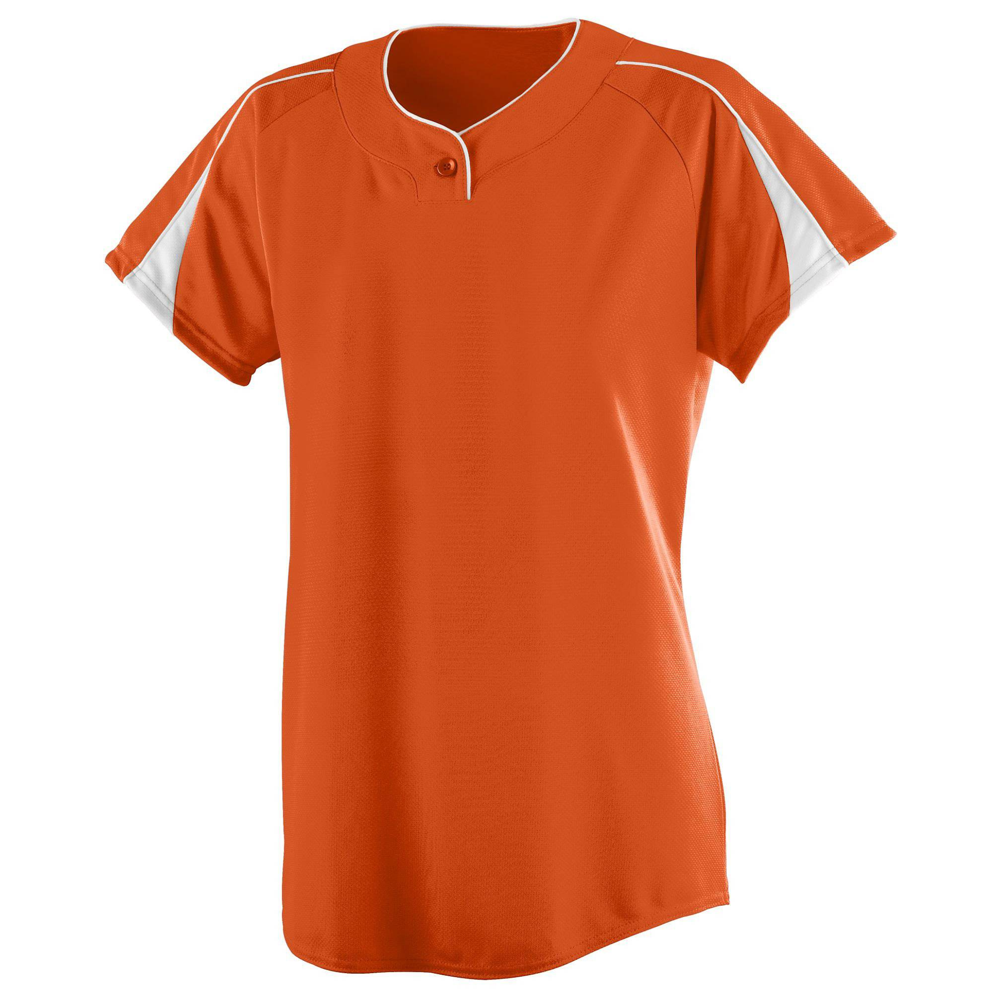 Augusta 1225 Ladies Diamond Jersey - Orange White