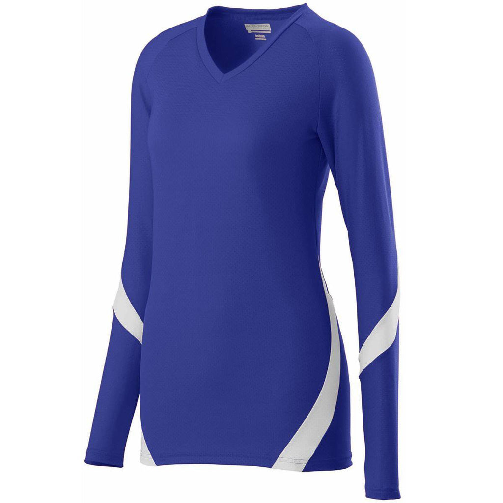 Augusta 1325 Ladies Dig Jersey - Purple White - HIT A Double