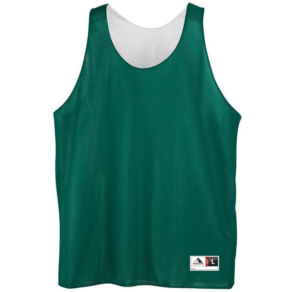 Augusta 136 Reversible Mini Mesh League Tank - Forest White - HIT A Double