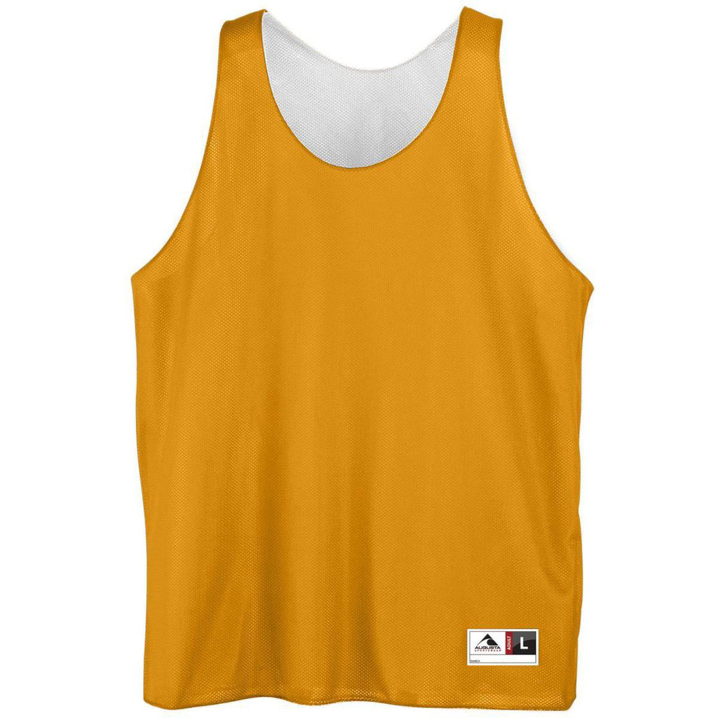 Augusta 136 Reversible Mini Mesh League Tank - Gold White - HIT A Double