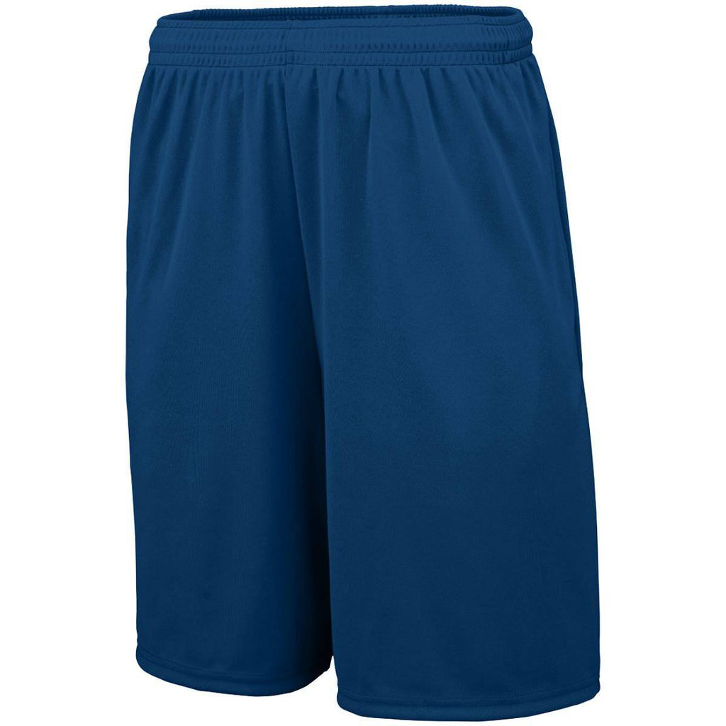 Augusta 1429 Training Short with Pockets - Youth - Navy - HIT A Double