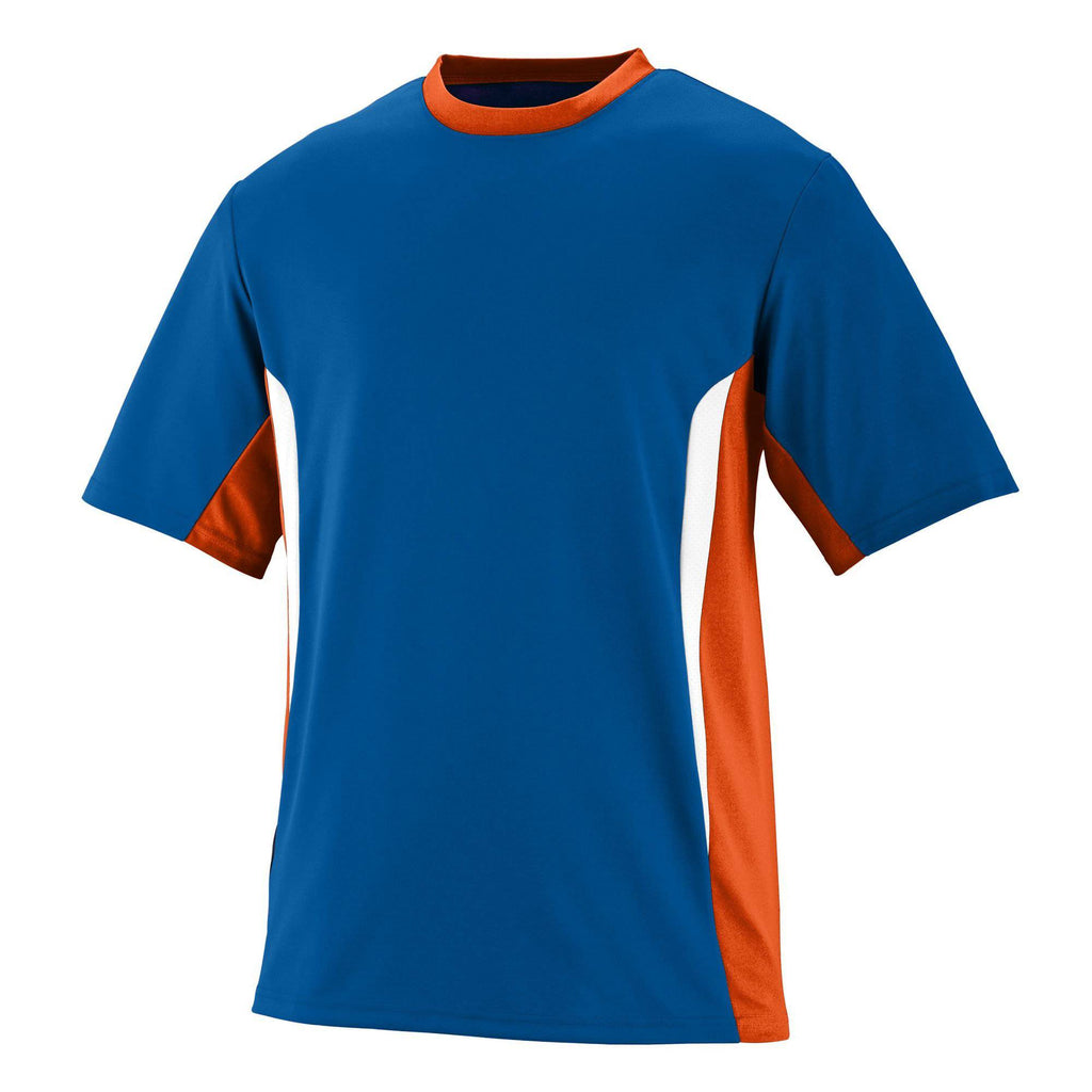 Augusta 1511 Surge Jersey - Youth - Royal Orange White - HIT A Double