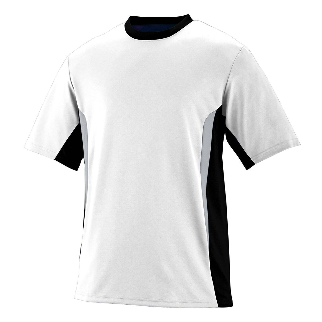 Augusta 1511 Surge Jersey - Youth - White Black Silver Gray - HIT A Double