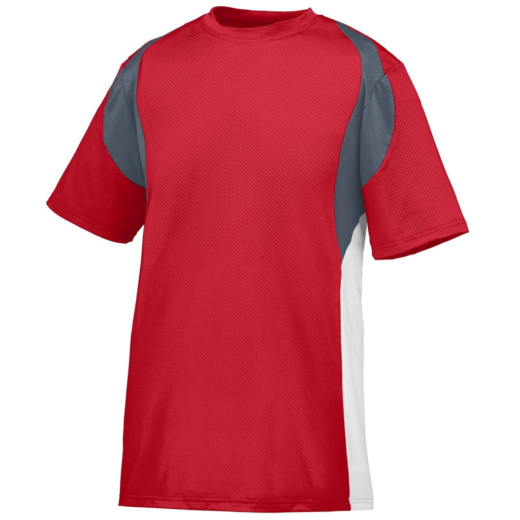 Augusta 1515 Quasar Jersey - Red Graphite White - HIT A Double
