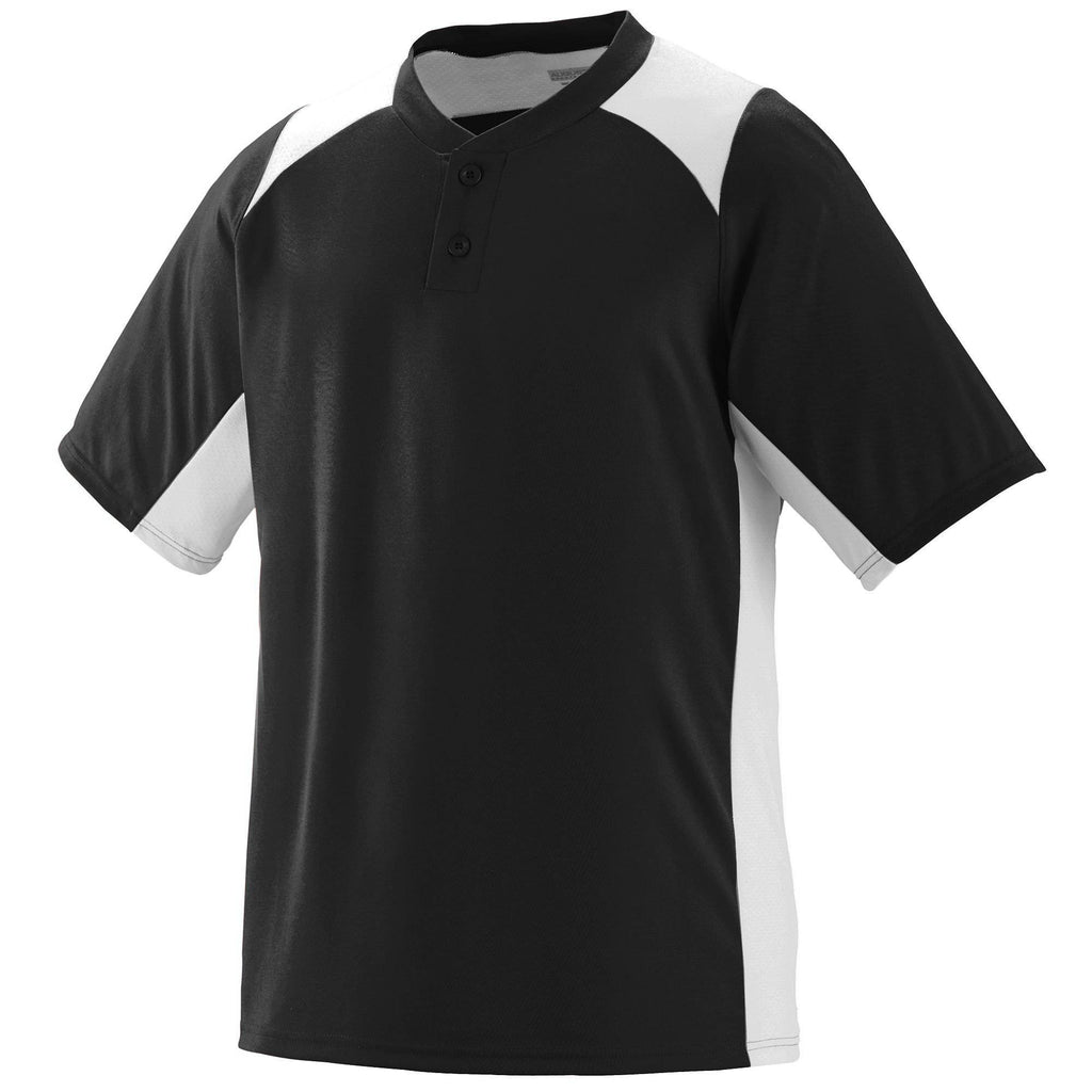 Augusta 1521 Gamer Jersey - Youth - Black White - HIT A Double