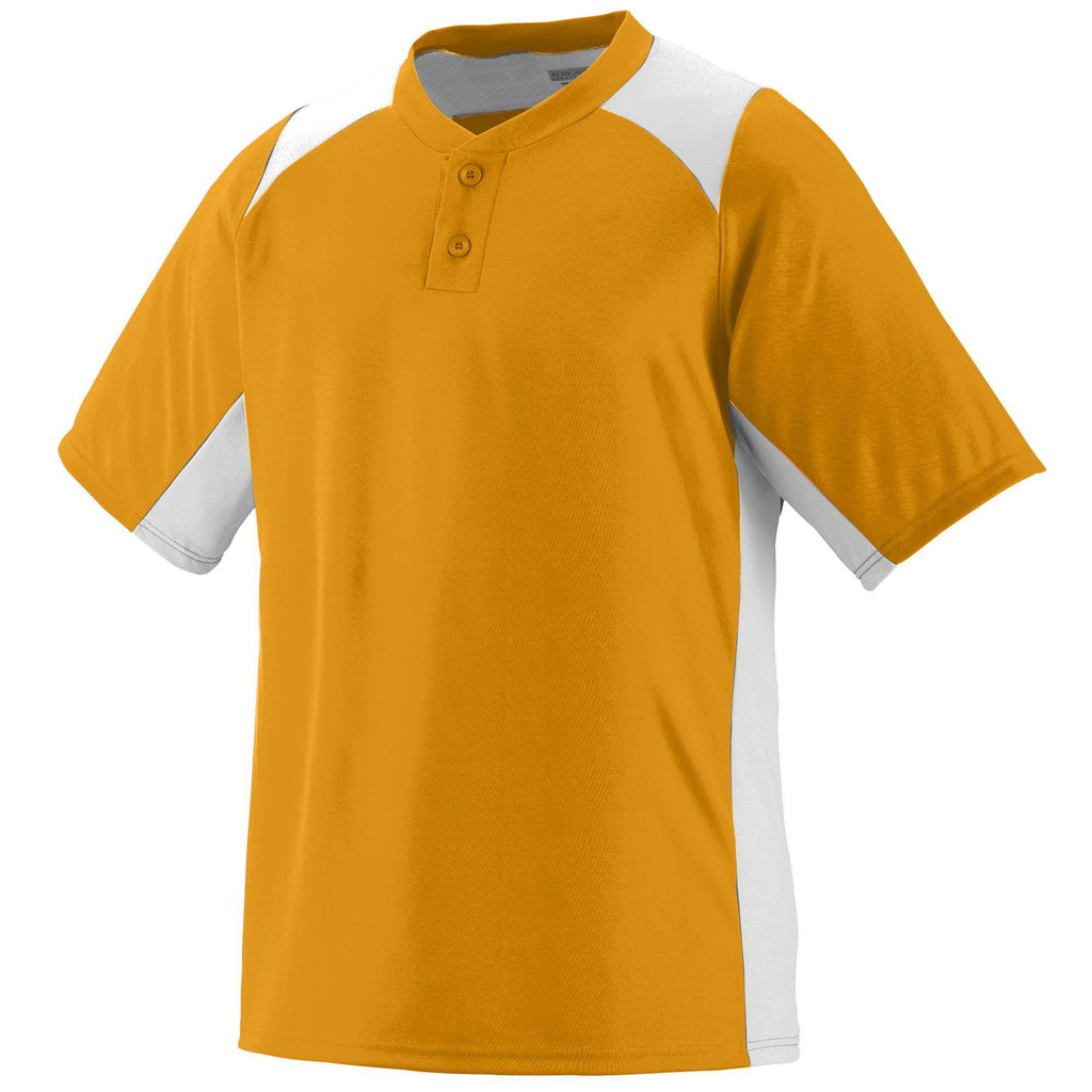Augusta 1521 Gamer Jersey - Youth - Gold White - HIT A Double