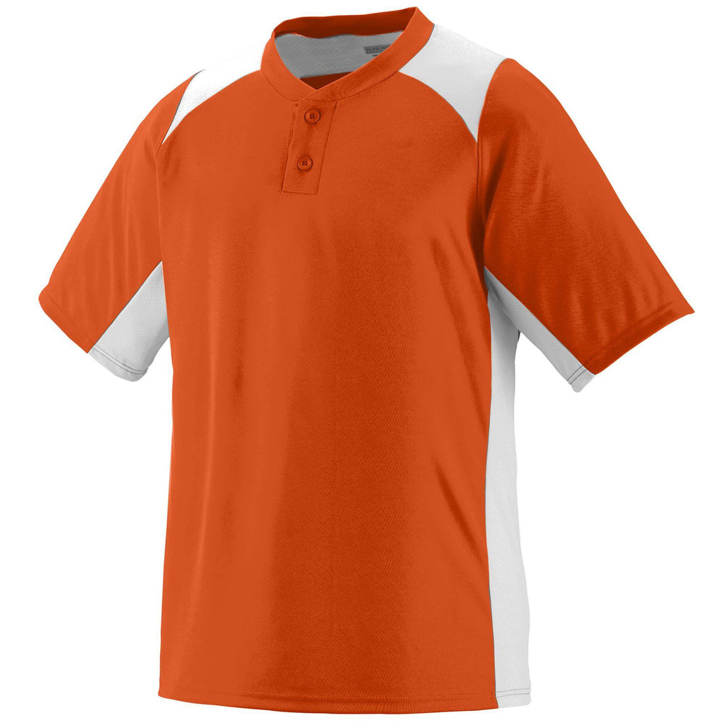 Augusta 1521 Gamer Jersey - Youth - Orange White - HIT A Double
