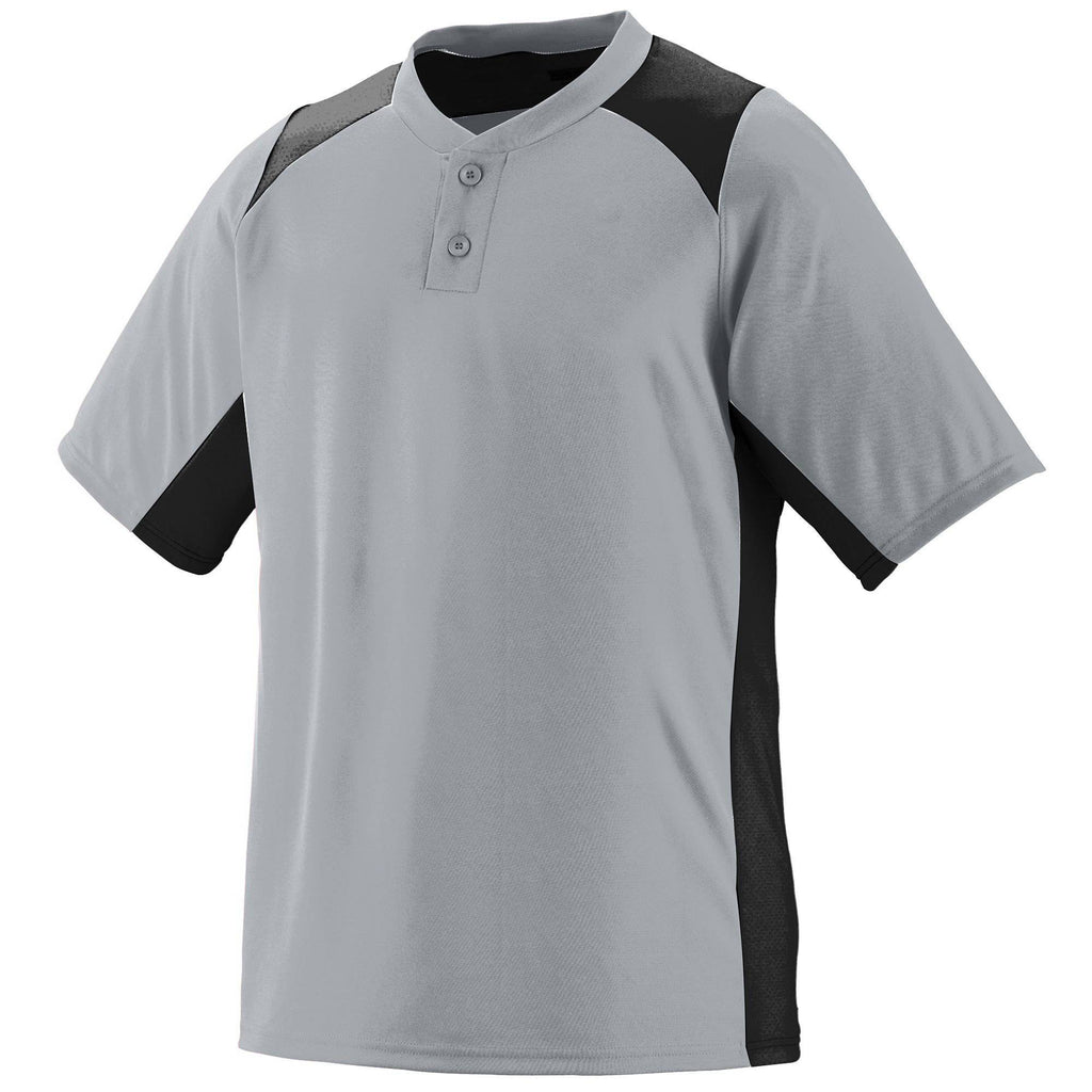 Augusta 1521 Gamer Jersey - Youth - Silver Gray Black - HIT A Double