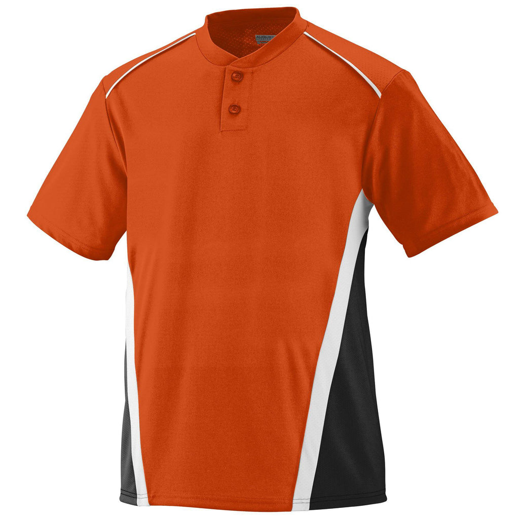 Augusta 1525 RBI Jersey - Orange Black White - HIT A Double