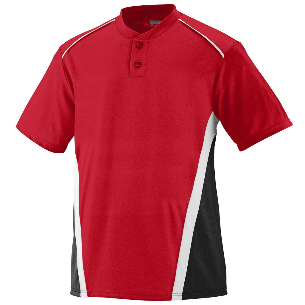 Augusta 1525 RBI Jersey - Red Black White - HIT A Double