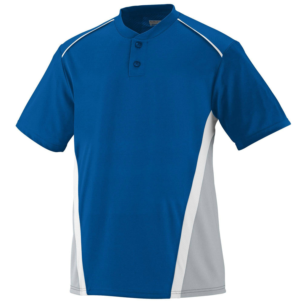 Augusta 1525 RBI Jersey - Royal Silver Gray White - HIT A Double