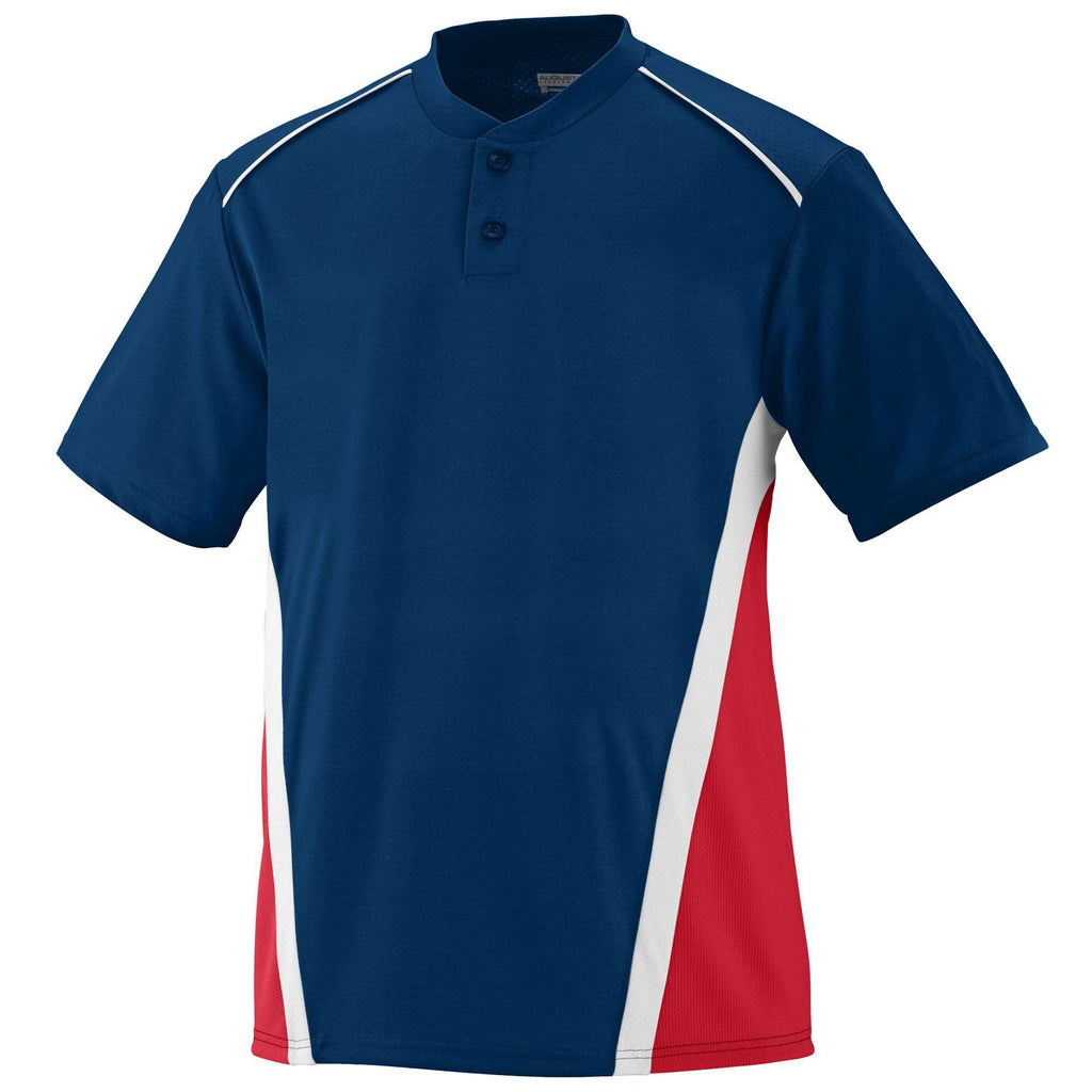 Augusta 1526 RBI Jersey - Youth - Navy Red White - HIT A Double