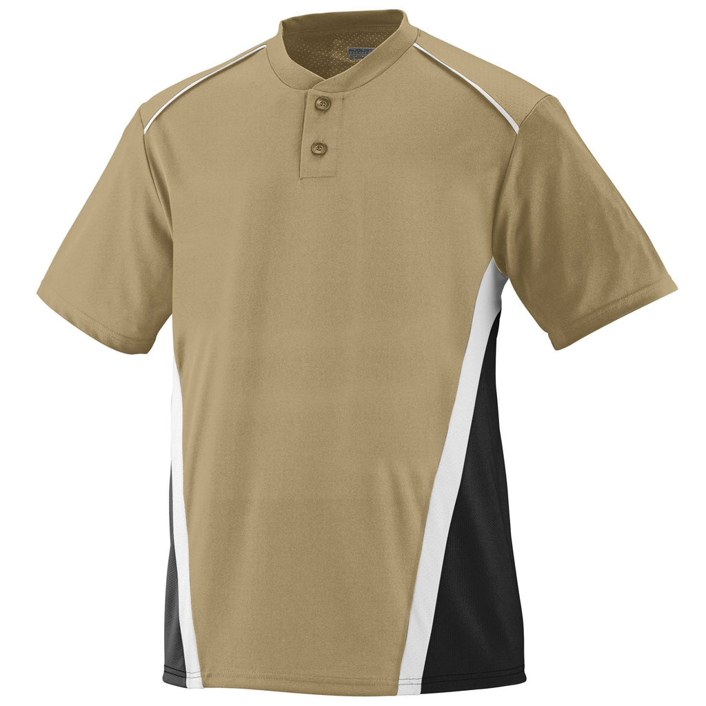 Augusta 1526 RBI Jersey - Youth - Vegas Gold Black White - HIT A Double
