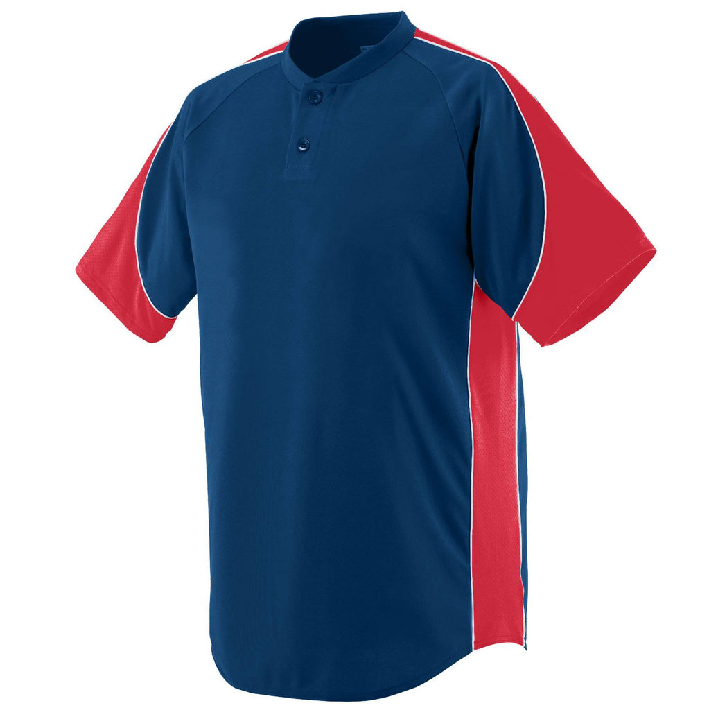 Augusta 1530 Blast Jersey - Navy Red White - HIT A Double