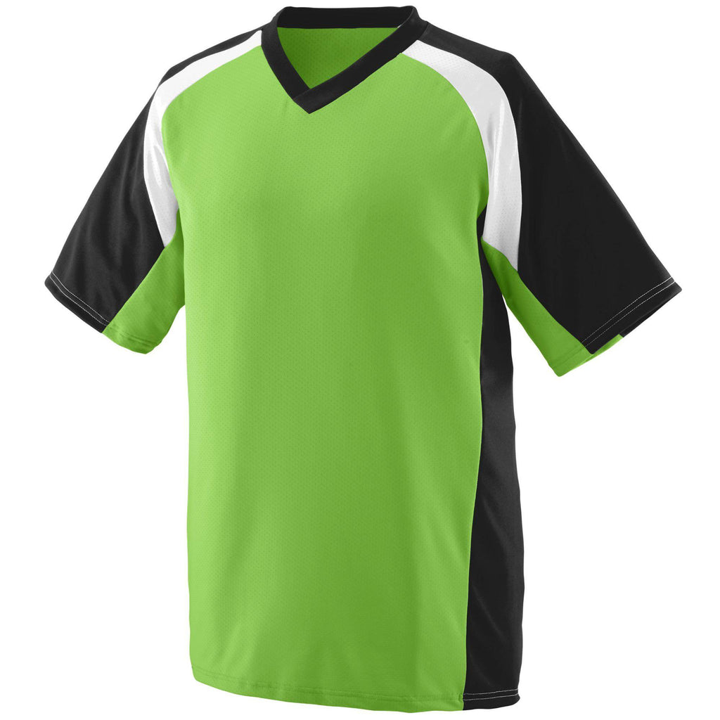 Augusta 1535 Nitro Jersey - Lime Black White - HIT A Double