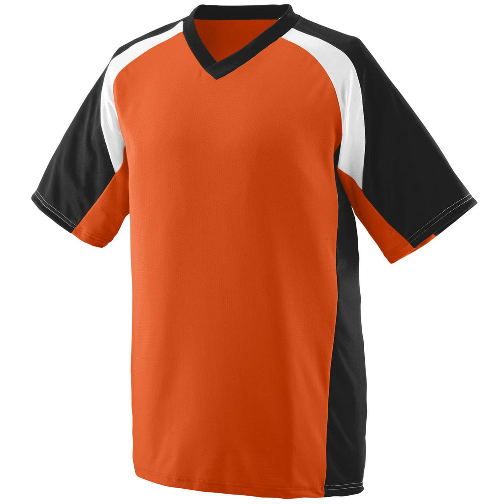 Augusta 1536 Nitro Jersey - Youth - Orange Black White - HIT A Double