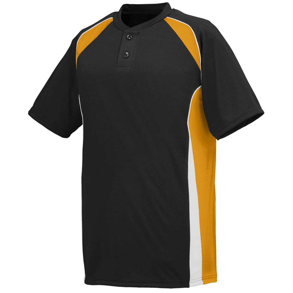 Augusta 1540 Base Hit Jersey - Black Gold White - HIT A Double