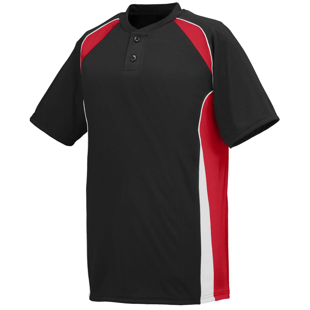 Augusta 1540 Base Hit Jersey - Black Red White - HIT A Double