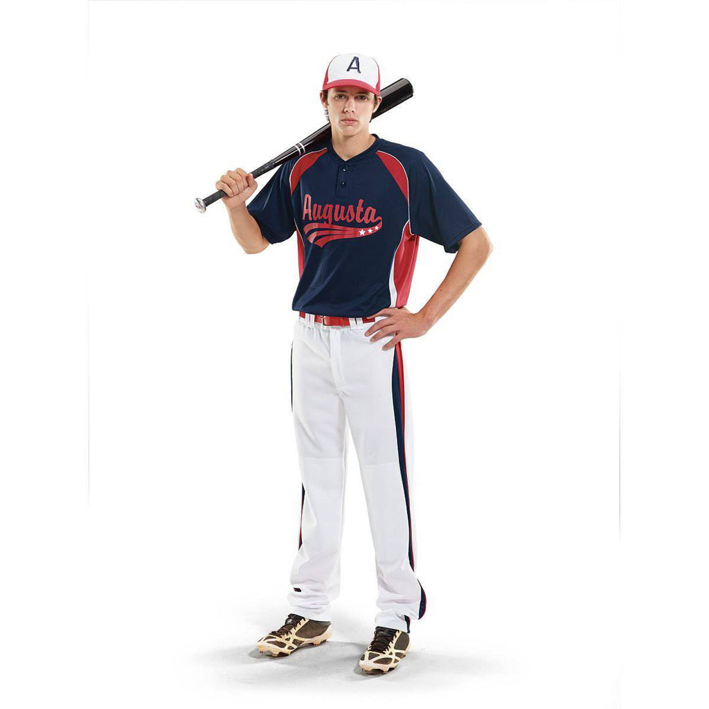 Augusta 1540 Base Hit Jersey - Navy Red White - HIT A Double