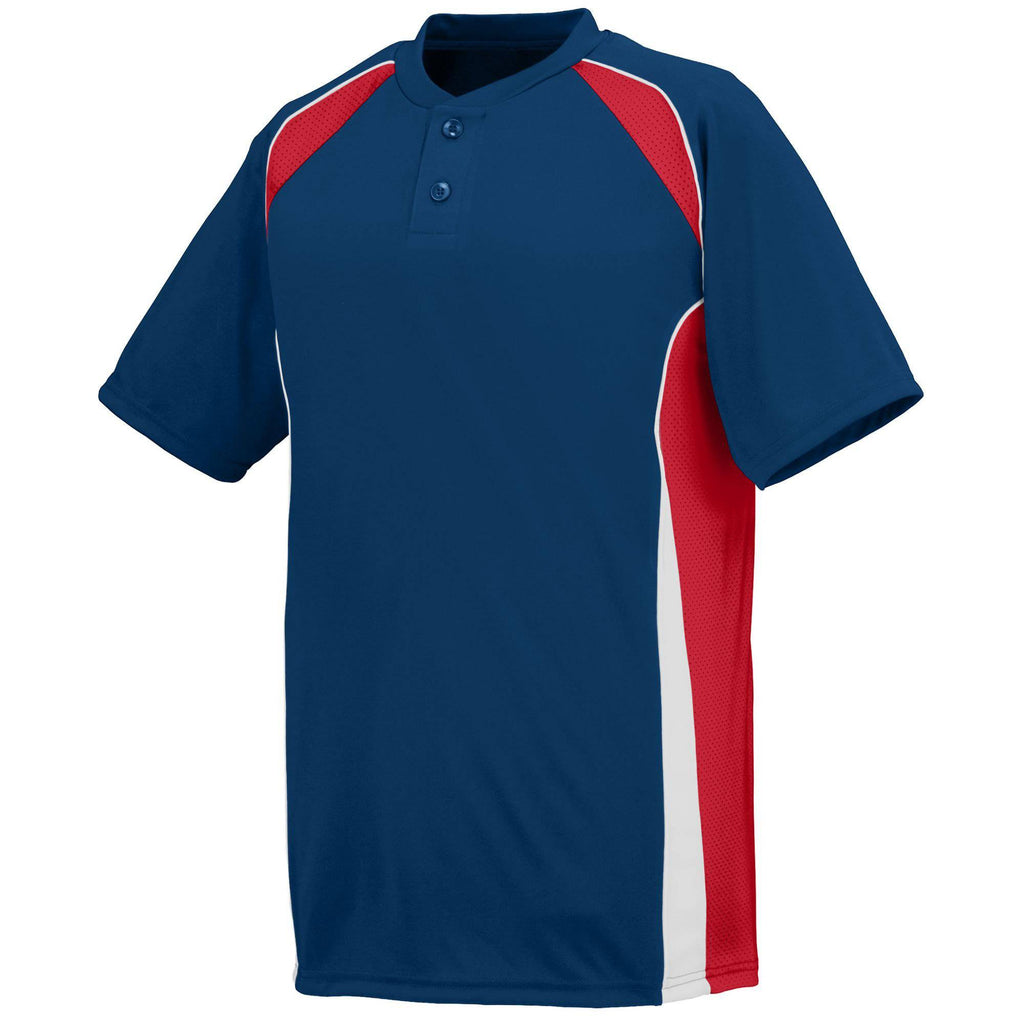 Augusta 1541 Base Hit Jersey - Youth - Navy Red White - HIT A Double