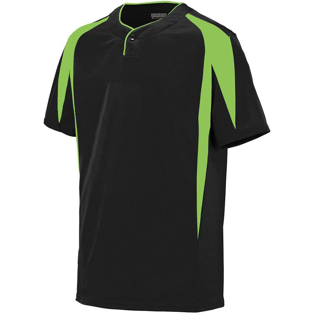 Augusta 1546 Flyball Jersey - Youth - Black Lime - HIT A Double