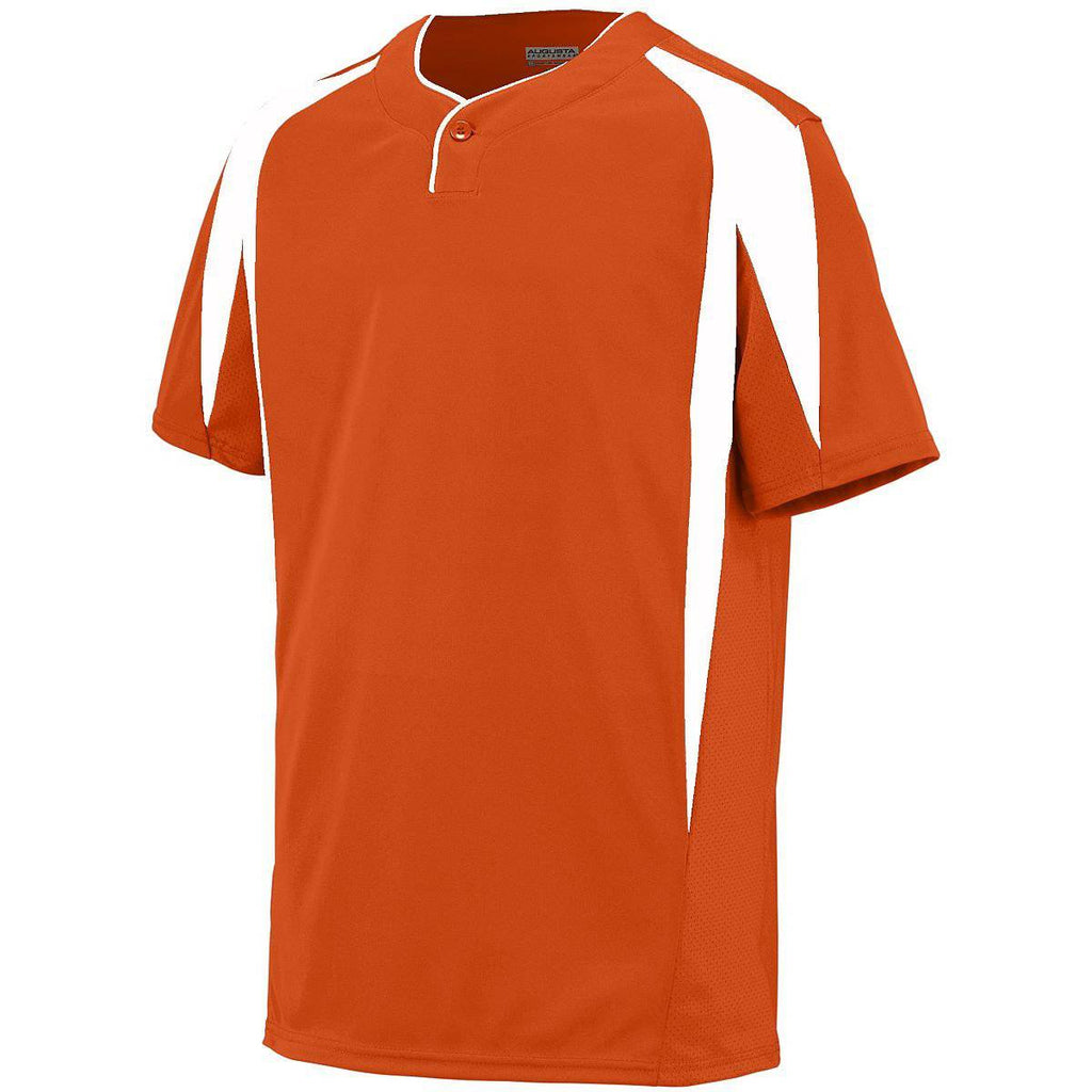 Augusta 1546 Flyball Jersey - Youth - Orange White - HIT A Double