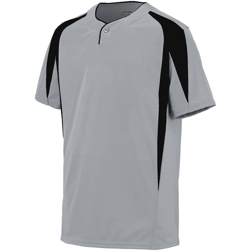 Augusta 1546 Flyball Jersey - Youth - Silver Gray Black - HIT A Double