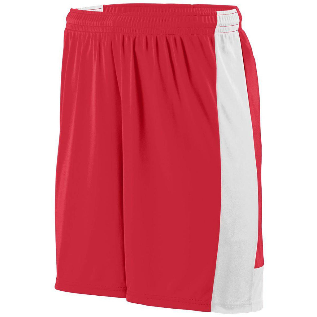 Augusta 1606 Lightning Short - Youth - Red White - HIT A Double