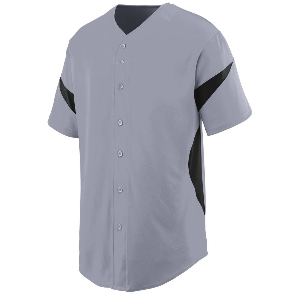 Augusta 1650 Wheel House Jersey - Blue Gray Black - HIT A Double