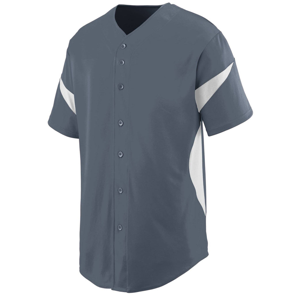 Augusta 1650 Wheel House Jersey - Graphite White - HIT A Double