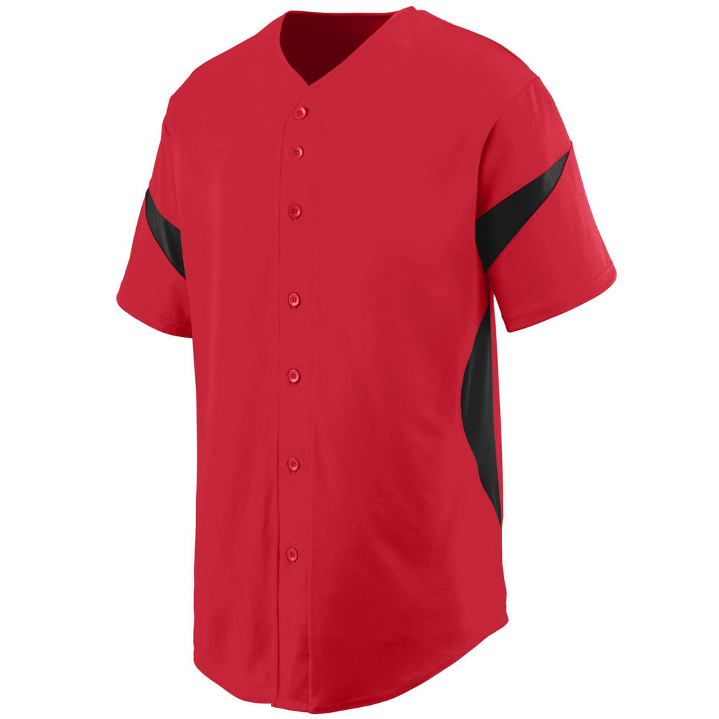 Augusta 1650 Wheel House Jersey - Red Black - HIT A Double