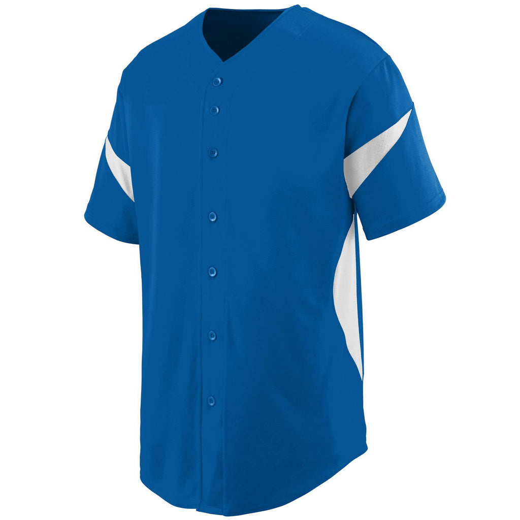 Augusta 1650 Wheel House Jersey - Royal White - HIT A Double