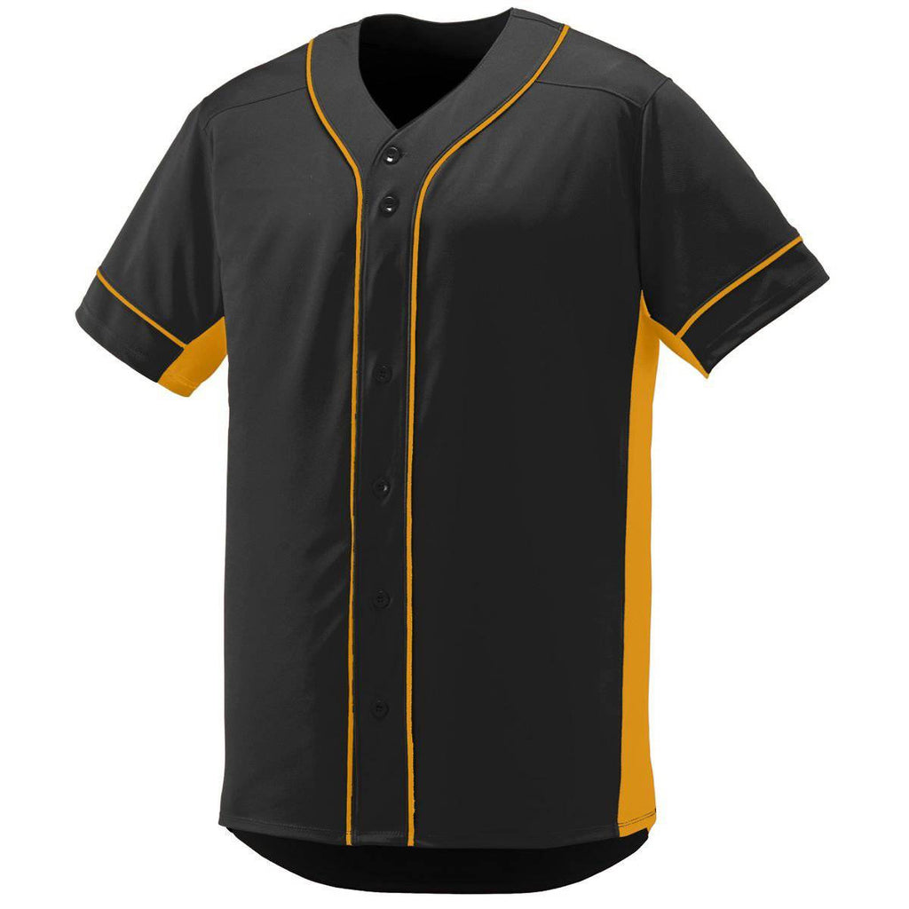 Augusta 1660 Slugger Jersey - Black Gold - HIT A Double